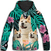 Akita Flower Pattern 1 All Over Print Hoodie ZEUS1101