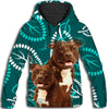 Pit Bull Flower Pattern 4 All Over Print Hoodie ZEUS1701