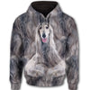 Afghan Hound Face All Over Print Full Zip Hoodie ZEUS020136