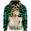 Akita Flower Pattern 1 All Over Print Full Zip Hoodie ZEUS1201