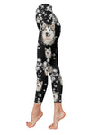 Alaskan Malamute Flower Pattern 2 Low Rise Leggings ZEUS1201