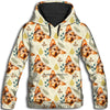 Yorkshire Terrier Flower Pattern 2 All Over Print Hoodie ZEUS1001
