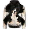 Greater Swiss Mountain Dog Face All Over Print Full Zip Hoodie ZEUS020142