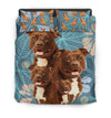 Pit Bull Flower Pattern Bedding 4 ZEUS1601