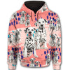 Dalmatian Flower Pattern 3 All Over Print Full Zip Hoodie ZEUS1601