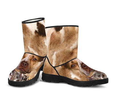 American Pit Bull Terrier Awesome Fur Boot ZEUS121245