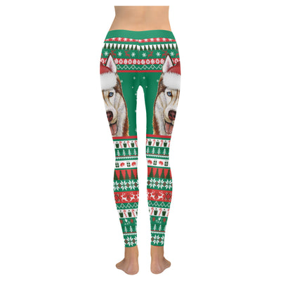 Siberian Husky Low Rise Leggings