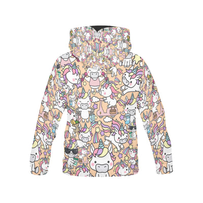 Unicorn Funny All Over Print Hoodie