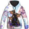 Doberman Pinscher Cool Pattern All Over Print Hoodie ZEUS100118