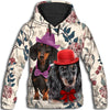 Dachshund Leaves 4 All Over Print Hoodie ZEUS100104