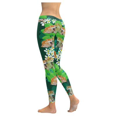 Akita Flower Pattern 4 Low Rise Leggings ZEUS1101