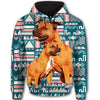 Staffordshire Bull Terrier Flower Pattern 4 All Over Print Full Zip Hoodie ZEUS1101