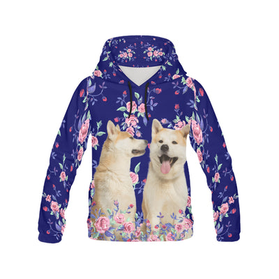 Akita Flower Pattern 2 All Over Print Hoodie ZEUS1101