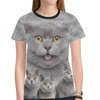 British Shorthair Poseidon 2911 New All Over Print T-shirt for Women (Model T45)
