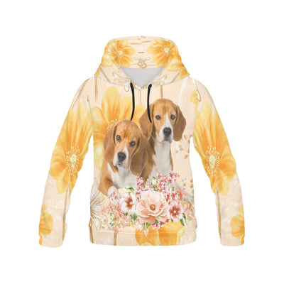 Beagle Flower All Over Print Hoodie GAEA191234
