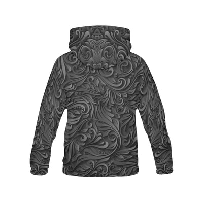 Pug Black Pattern All Over Print Hoodie ZEUS090101