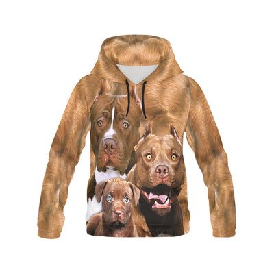 American Pit Bull Terrier Family All Over Print Hoodie