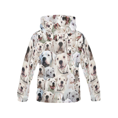 Dogo Argentino All Over Print Hoodie