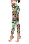 American Staffordshire Terrier Flower Pattern 4 Low Rise Leggings ZEUS1001