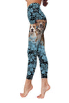 American Staffordshire Terrier Flower Pattern 2 Low Rise Leggings ZEUS1001