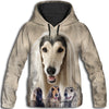 Afghan Hound Awesome All Over Print Hoodie - PRINTMAZING