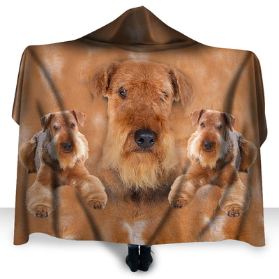 Airedale Terrier Face Hooded Blanket ZEUS2901