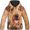 Airedale Terrier Awesome All Over Print Hoodie