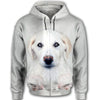 Akbash Dog Face All Over Print Full Zip Hoodie ZEUS030145
