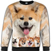 Akita Awesome All Over Print Crewneck Sweatshirt