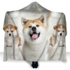 Akita Face Hooded Blanket ZEUS2901