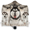Alaskan Malamute Face Hooded Blanket ZEUS2901