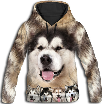 Alaskan Malamute Awesome All Over Print Hoodie