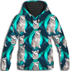 Alaskan Malamute Flower Pattern 2 All Over Print Hoodie ZEUS1201