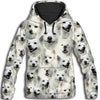 American Eskimo Dog All Over Print Hoodie