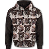 Dogs - American Pit Bull Terrier All Over Print Full Zip Hoodie ZEUS050203