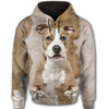 American Staffordshire Terrier Face All Over Print Full Zip Hoodie ZEUS281225