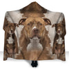 American Staffordshire Terrier Face Hooded Blanket ZEUS290118