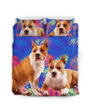 American Staffordshire Terrier Flower Pattern Bedding 3 ZEUS1001