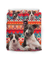 American Staffordshire Terrier Flower Pattern Bedding 4 ZEUS1001