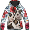 American Staffordshire Terrier Flower Pattern 1 All Over Print Hoodie ZEUS1001