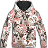 American Staffordshire Terrier Flower Pattern 2 All Over Print Hoodie ZEUS1001
