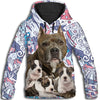 American Staffordshire Terrier Flower Pattern 4 All Over Print Hoodie ZEUS1001