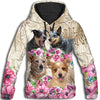 Australian Cattle Dog Flower All Over Print Hoodie ZEUS060132