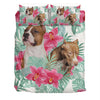 American Pit Bull Terrier Flower Pattern Bedding ZEUS090101