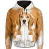 Beagle Face All Over Print Full Zip Hoodie ZEUS281226