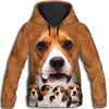 Beagle Awesome All Over Print Hoodie