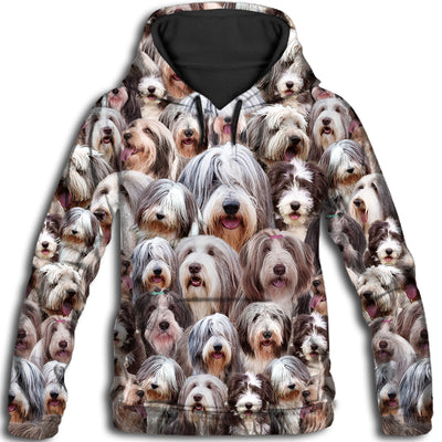 Bearded Collie All Over Print Hoodie