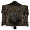 Belgian Shepherd Face Hooded Blanket ZEUS2901
