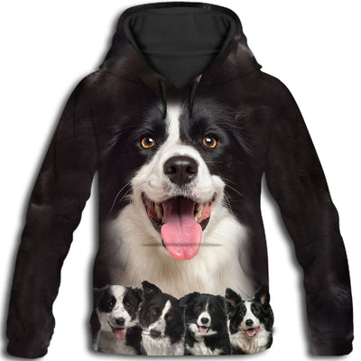 Border Collie Awesome All Over Print Hoodie