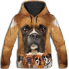 Boxer Awesome All Over Print Hoodie